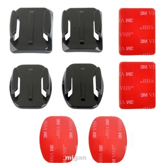 Helmet Mounts Climbing Double Sided Flat Curved For GoPro Hero 3 4 5