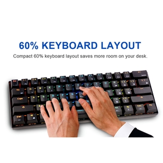 Bàn Phím Cơ Gaming Ek Kludge Rk61 Bluetooth 60%
