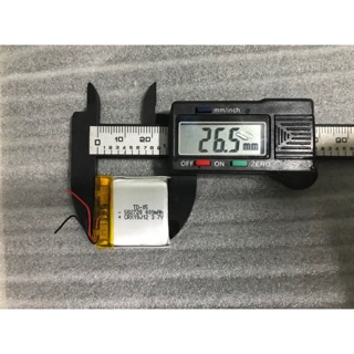 Pin đồng hồ thông minh 400mAh 3.7V có mạch bảo vệ . kích thước 5,5,mm*26,5mm*26,5mm
