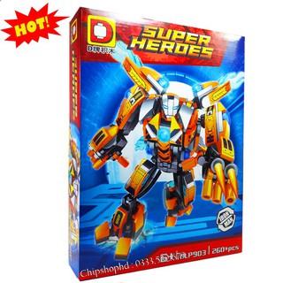 Bộ Lego Xếp Hình Ninjago Super Heroes Marvel – Iron Man. Gồm 260 Chi Tiết. Lego Ninjago Lắp Ráp Đồ Chơi Cho Bé.