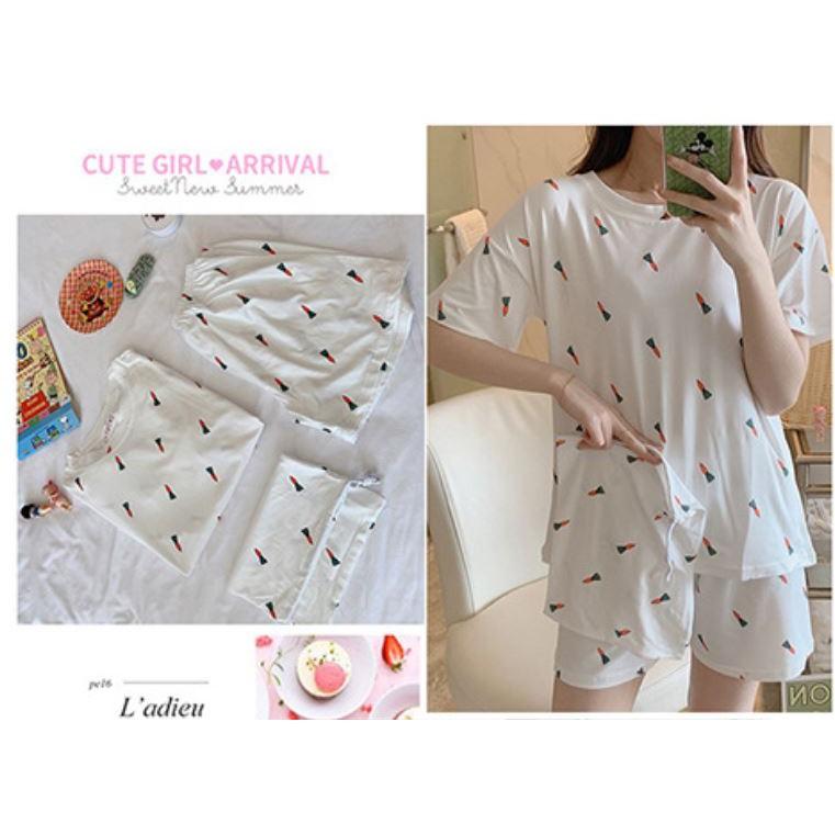 Mặc gì đẹp: Bộ đồ ngủ nữ pijama dễ thương, đồ ngủ nữ cotton mặc nhà sau sinh dễ thương