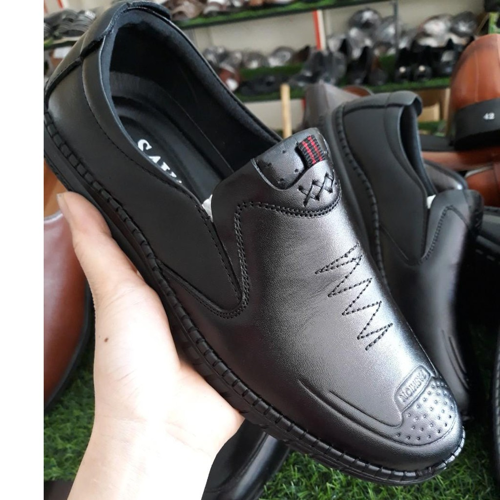Giày lười nam da bò cao cấp bảo hành 12 tháng