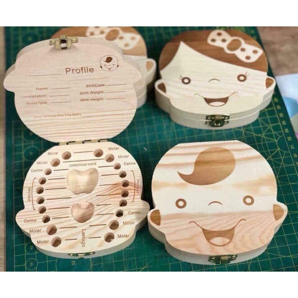 Hộp gỗ đựng răng sữa cho bé - 10086584 , 1025945733 , 322_1025945733 , 40000 , Hop-go-dung-rang-sua-cho-be-322_1025945733 , shopee.vn , Hộp gỗ đựng răng sữa cho bé