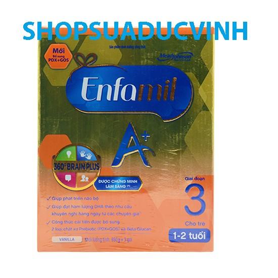Sữa bột Enfa Enfagrow A+ 3 360 Brain Plus PDX &GOS 3x650g (trẻ 1- 3tuổi) - 2567085 , 58592172 , 322_58592172 , 895000 , Sua-bot-Enfa-Enfagrow-A-3-360-Brain-Plus-PDX-GOS-3x650g-tre-1-3tuoi-322_58592172 , shopee.vn , Sữa bột Enfa Enfagrow A+ 3 360 Brain Plus PDX &GOS 3x650g (trẻ 1- 3tuổi)