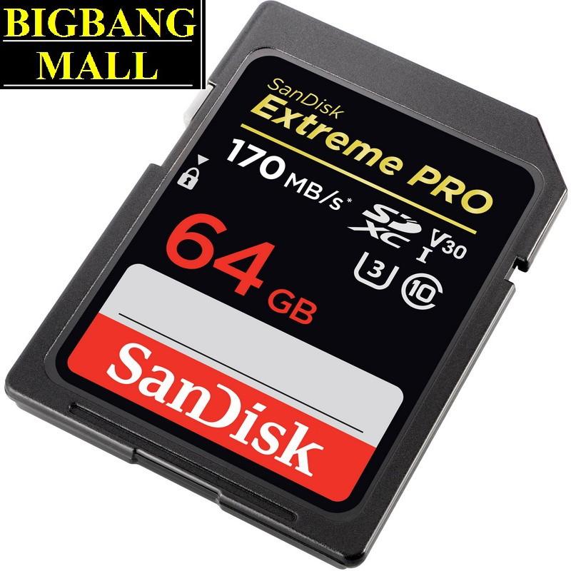 Thẻ nhớ máy ảnh 64Gb, 128Gb