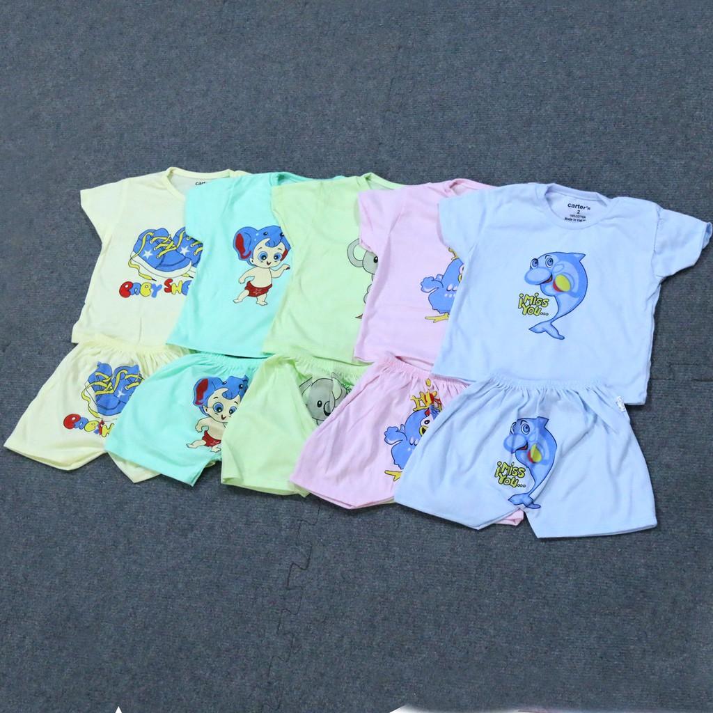 Set thời trang 5 bộ quần áo cộc tay Carter
