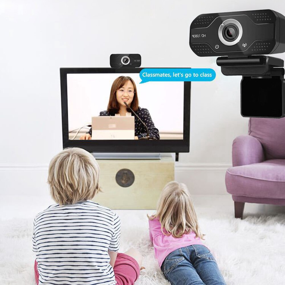 Web Camera Full HD 1080P Webcam For Computer Streaming with Microphone Camara USB Plug Web Cam for Laptop Notebook Monitor