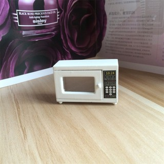 💗Sunei💗Wood Miniature Microwave For 1:12 Dollhouse Modern Kitchen Furniture Accessories