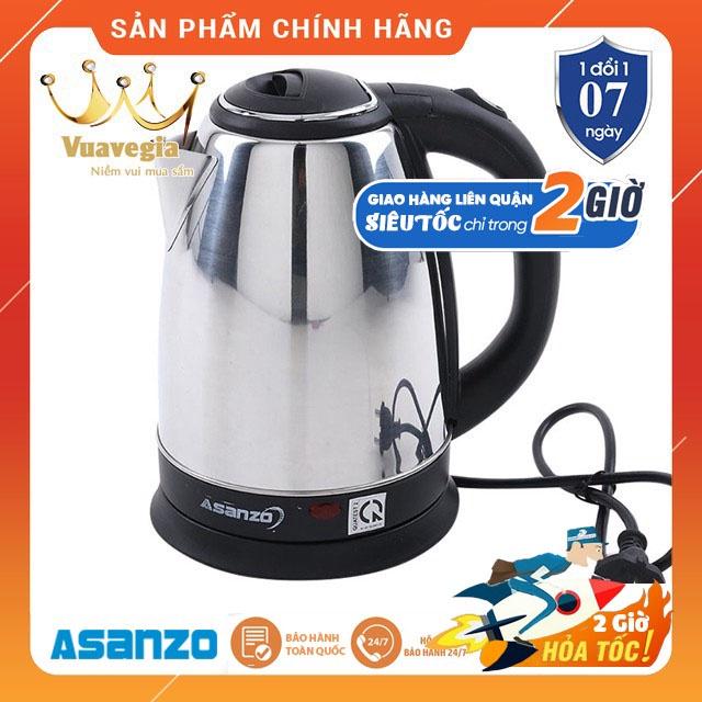 BÌNH ĐUN SIÊU TỐC 1.8L ASANZO SK-1800 (INOX) HÀNG CHÍNH HÃNG