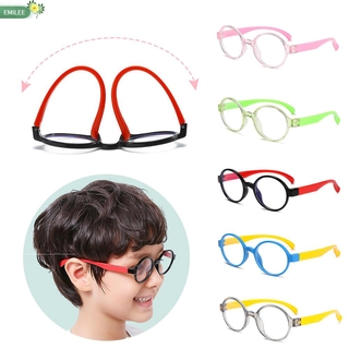 EMILEE💋 Ultralight Children Goggles Anti-blue Rays Silicone Eyewear Anti-blue Light Glasses Vision Care Soft Frame Boys Girls Fashion Radiation Protection Kids Eyeglasses/Multicolor