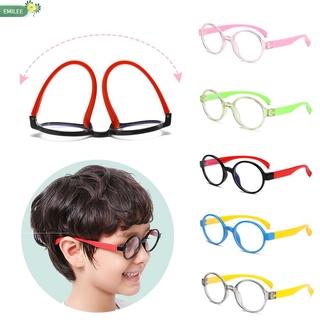 EMILEE💋 Ultralight Children Goggles Anti-blue Rays Silicone Eyewear Anti-blue Light Glasses Vision Care Soft Frame Boys Girls Fashion Radiation Protection Kids Eyeglasses/Multicolor