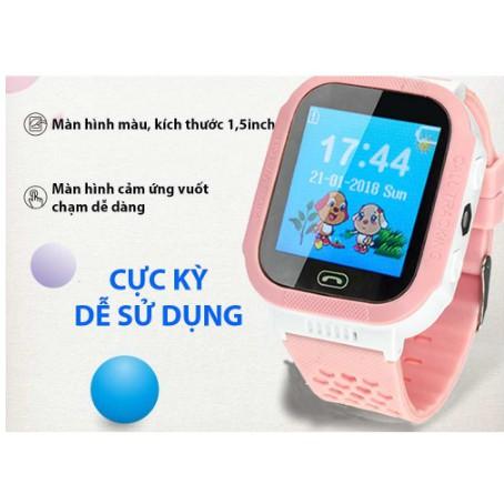 Đồng hồ thông minh màu hồng định vị trẻ em – Smart Watch y7 Tracker Màu Hồng_Màu Xanh Dương