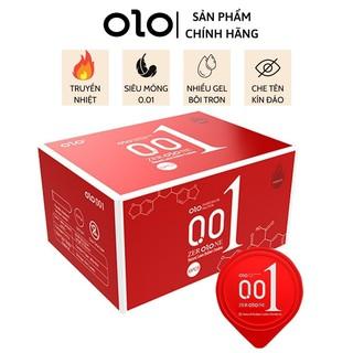Bao cao su 0.01 OLO đỏ, bao cao su siêu mỏng 0.01mm, siêu ấm hộp 10 bcs – olo_store