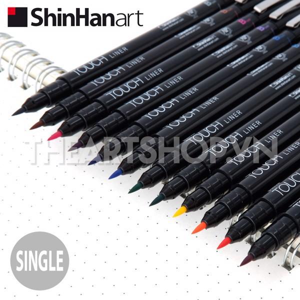 ShinHan TOUCH LINER bán lẻ đầy đủ 12 màu size Brush (kháng nước/ kháng marker)