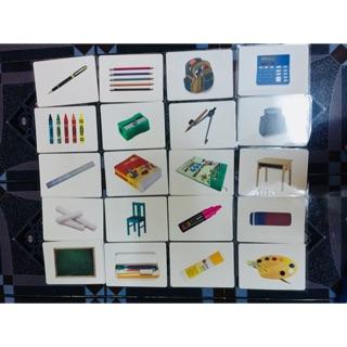 bộ flashcard chủ đề THINGS AT SCHOOL