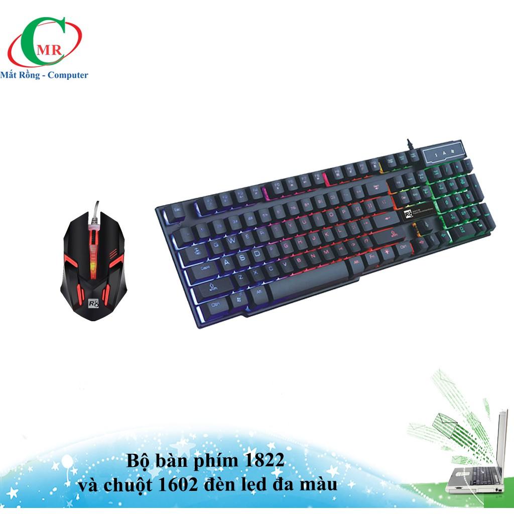 Bộ bàn phím chuyên game R8 - 1822 và chuột R8 - 1602 led đổi màu