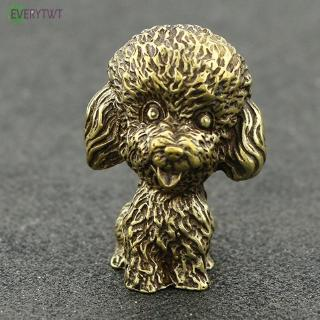 Poodle Ornaments Gift Desk Hand-Painted Crafts Solid Brass Home Decoration Miniature Display Office Accessories