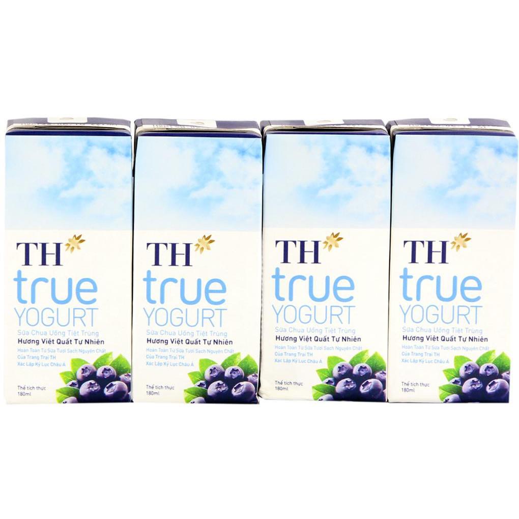 Sữa chua uống TH Truemilk vị Việt Quất hộp 180ml (lốc 4 hộp) - 3498168 , 1245327215 , 322_1245327215 , 27000 , Sua-chua-uong-TH-Truemilk-vi-Viet-Quat-hop-180ml-loc-4-hop-322_1245327215 , shopee.vn , Sữa chua uống TH Truemilk vị Việt Quất hộp 180ml (lốc 4 hộp)
