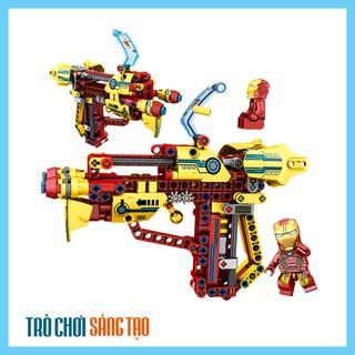 [SALE TẾT] Bộ lego xếp hình súng bắn siêu anh hùng Người sắt – Iron Man 237pcs