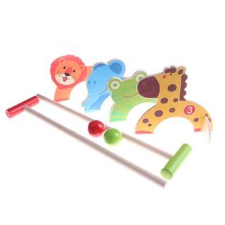 SUN11❤❤ Wooden Kids Animals Gate Ball Educational Toy For Children Mini