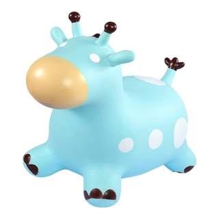 Inflatable Jumping Horse Enlarged Thickened Jumping Deer Outdoor Bouncing Mount Educational Toy for Kid With Air Pump )