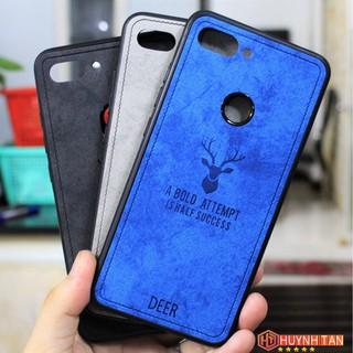 Ốp lưng Xiaomi Mi 8 lite / Mi 8X / Mi 8 Youth vân vải khắc 3D hình Nai (Full màu)
