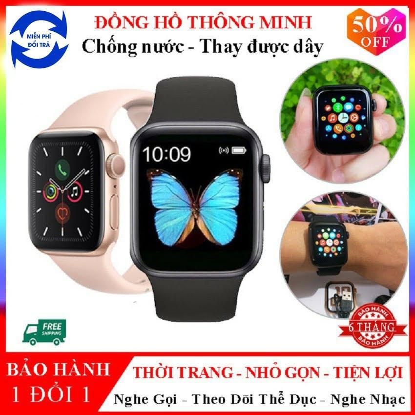 Đồng Hồ Thông Minh Cao Cấp   Smartwatch T500 Seri 5 Đo Nhịp Tim - Theo Dõi Sức Khỏe