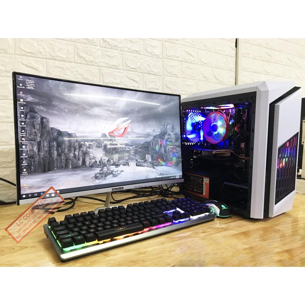 Bộ máy tính chới PUBG + màn hình 24inch cong 75hz Giá rẻ Giá chỉ 8.650.000₫