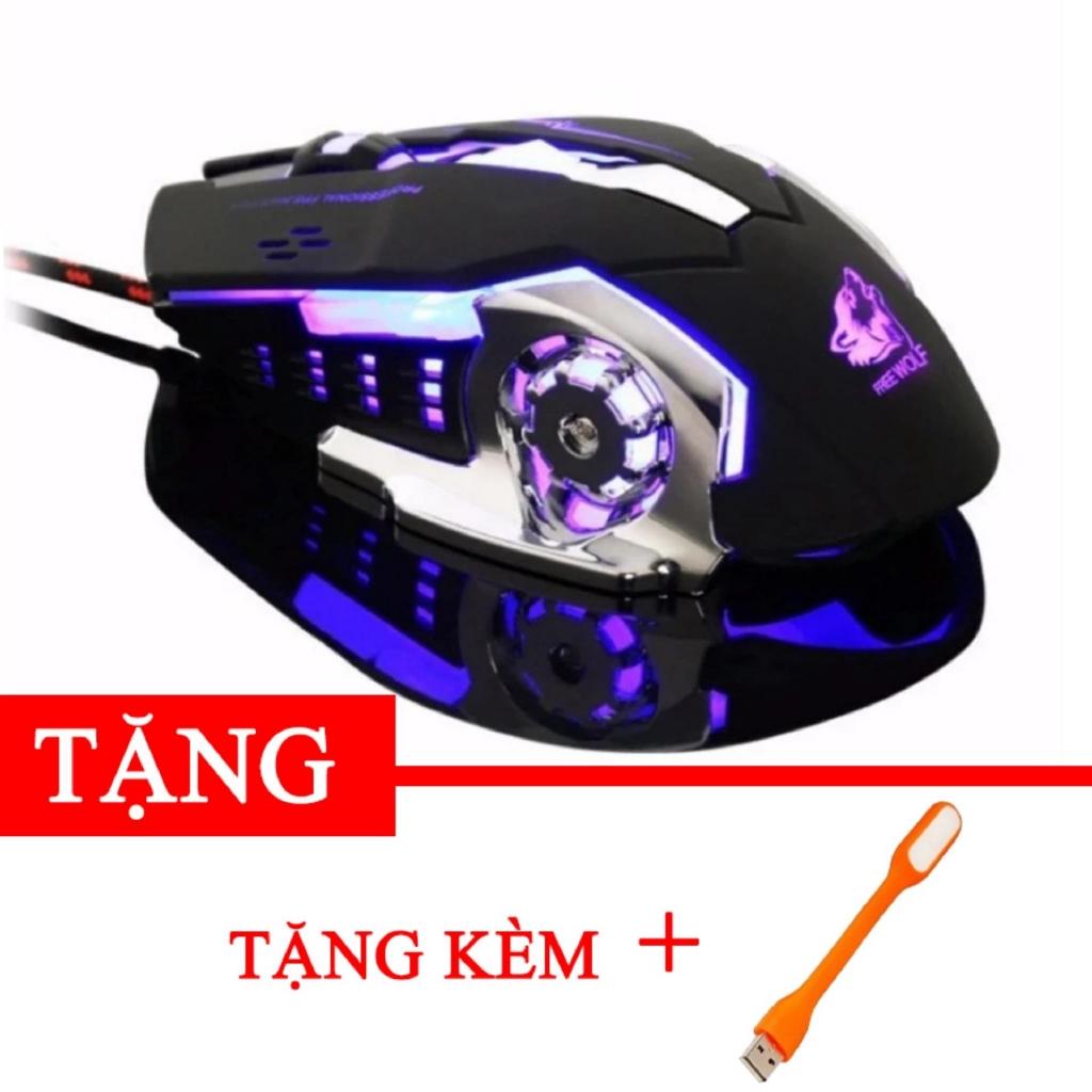 Chuột chuyên game Free worf R8 đẳng cấp Tặng kèm đèn led USB -gift2 DC2220