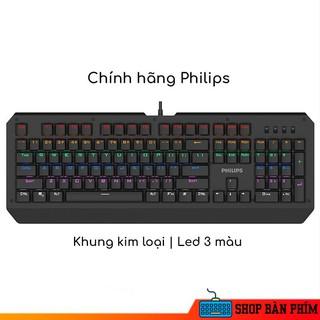 Bàn phím gaming giả cơ chính hãng Philips SPK8413 - ♥️ FREESHIP ♥️ - Bản chống ồn đỉnh cao - Hợp kim chống xước