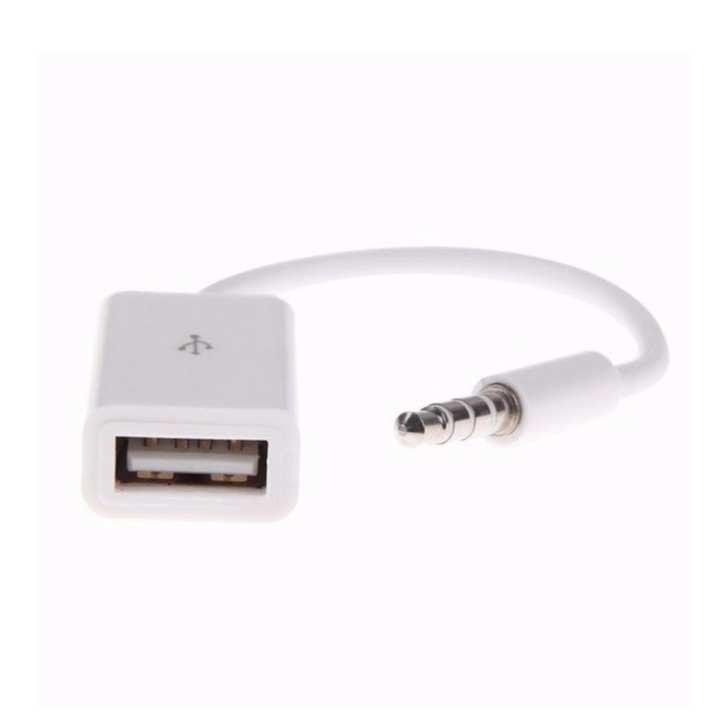 USB chuyển đổi rắc 3.5 thành audio màu trắng - dc2615