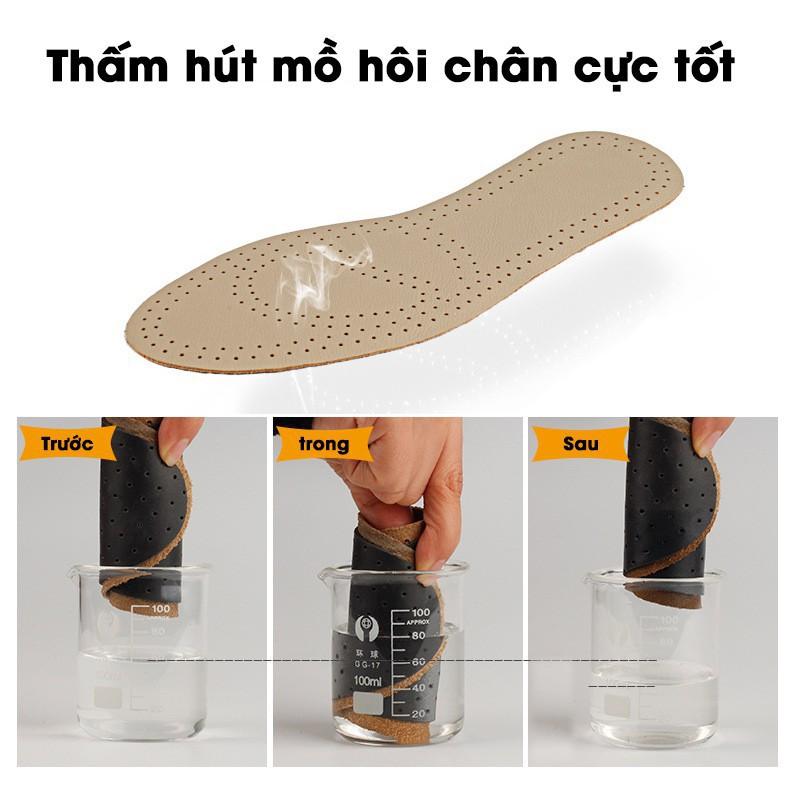 [CỰC RẺ]  Lót Giày Nam - Da Bò Cao Cấp 100% - SIÊU BỀN