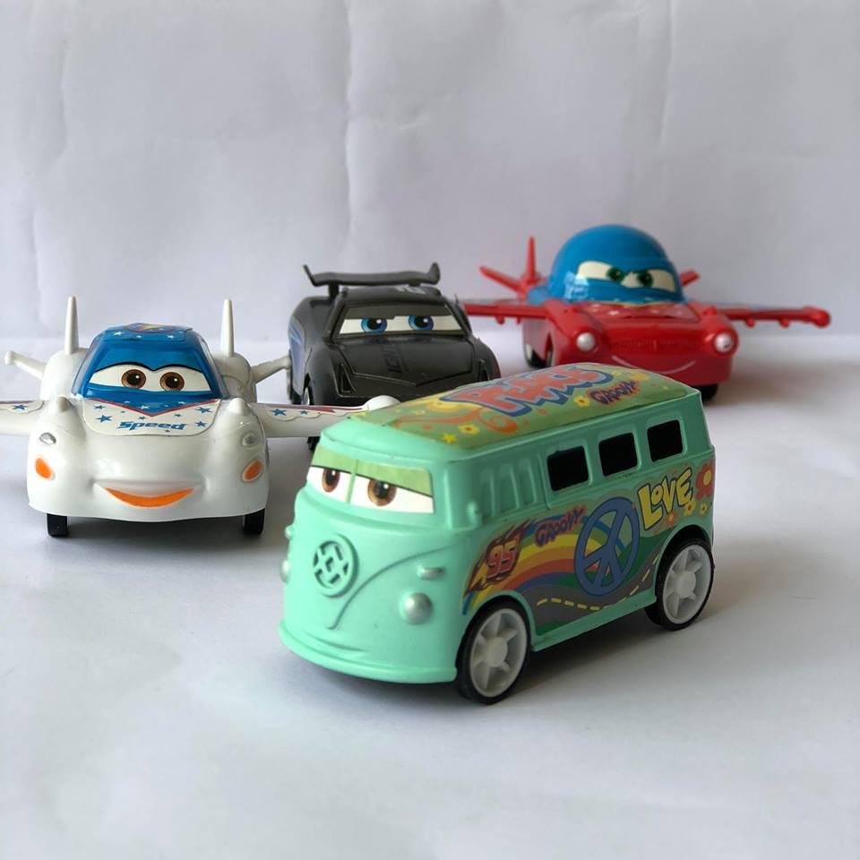 Bộ Đồ Chơi Mô Hình Xe Ô Tô Disney Pixar 8 Chiếc Cho Bé Trai(Loại Cánh Máy Bay)