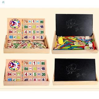 Đồ chơi gỗ bảng nam châm phép toán và que tính Safe for people