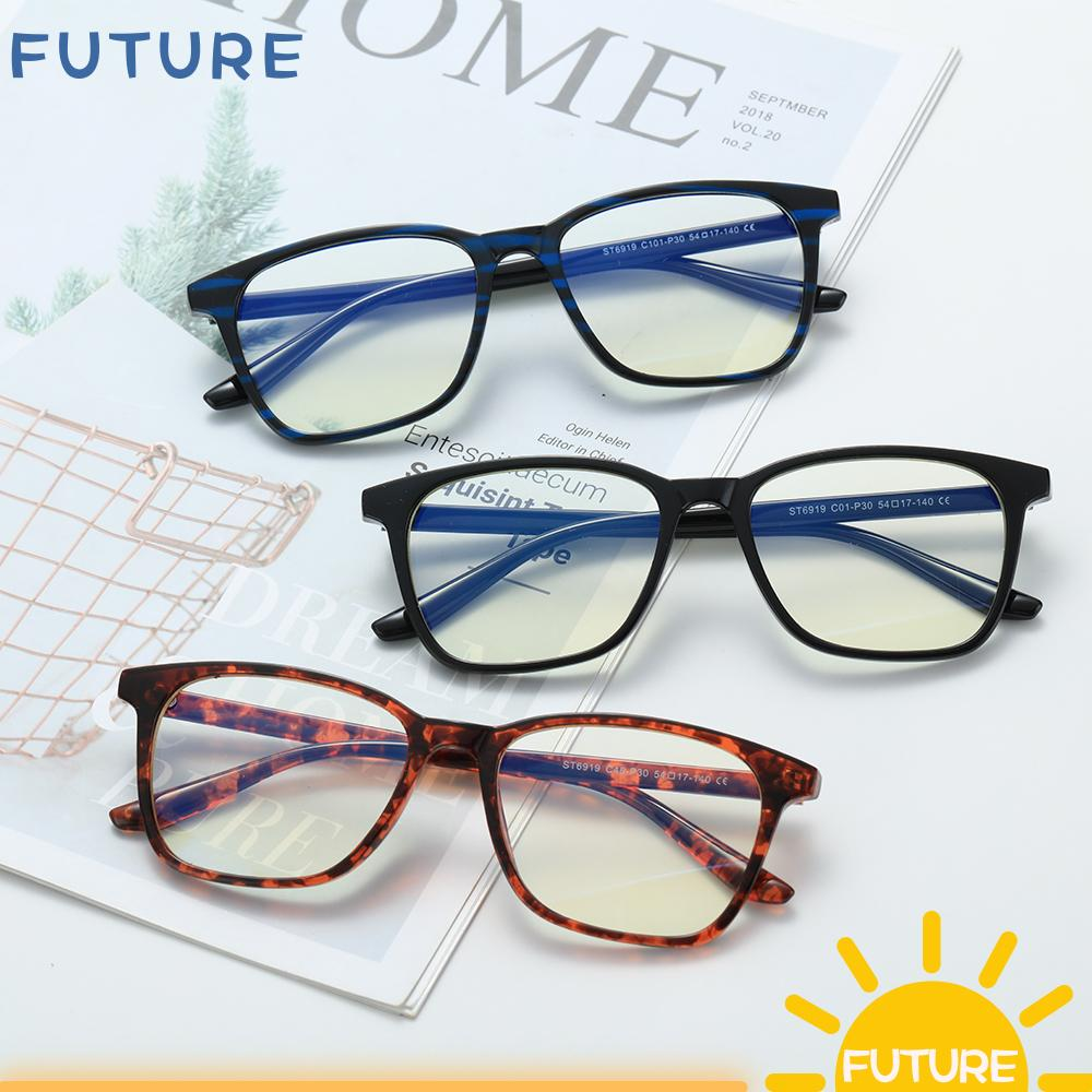 🎈FUTURE🎈 Vision Care Computer Glasses Lightweight Unisex Glasses Blue Light Blocking Cut UV400 with Spring Hinges Retro Frame Nerd Reading Gaming Glasses Eyewear Eye Eyestrain