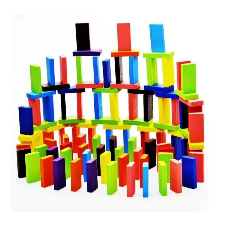Đồ chơi trẻ em - Bộ đồ chơi Domino Gỗ nhiều màu | HÀNG MỚI