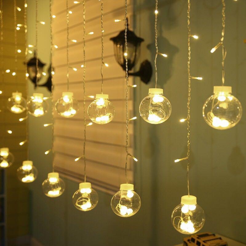 Đèn nháy rèm 12 bóng | Shopee Việt Nam