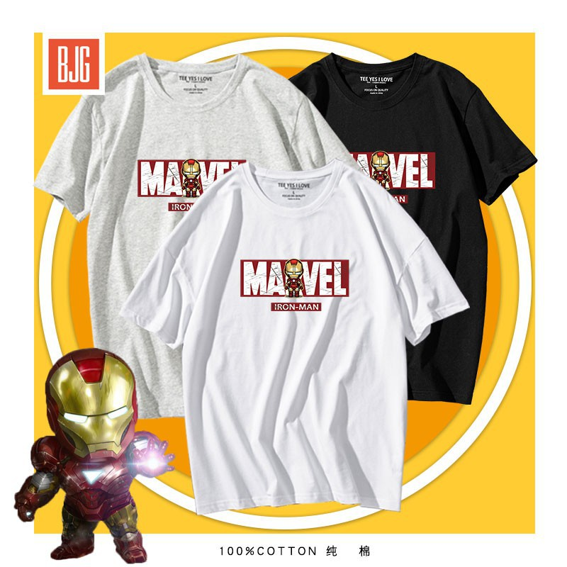 Dianlian joint t-shirt men's tide Avengers 4 surrounding short-sleeved clothes Iron Man died in the tenth anniversary of