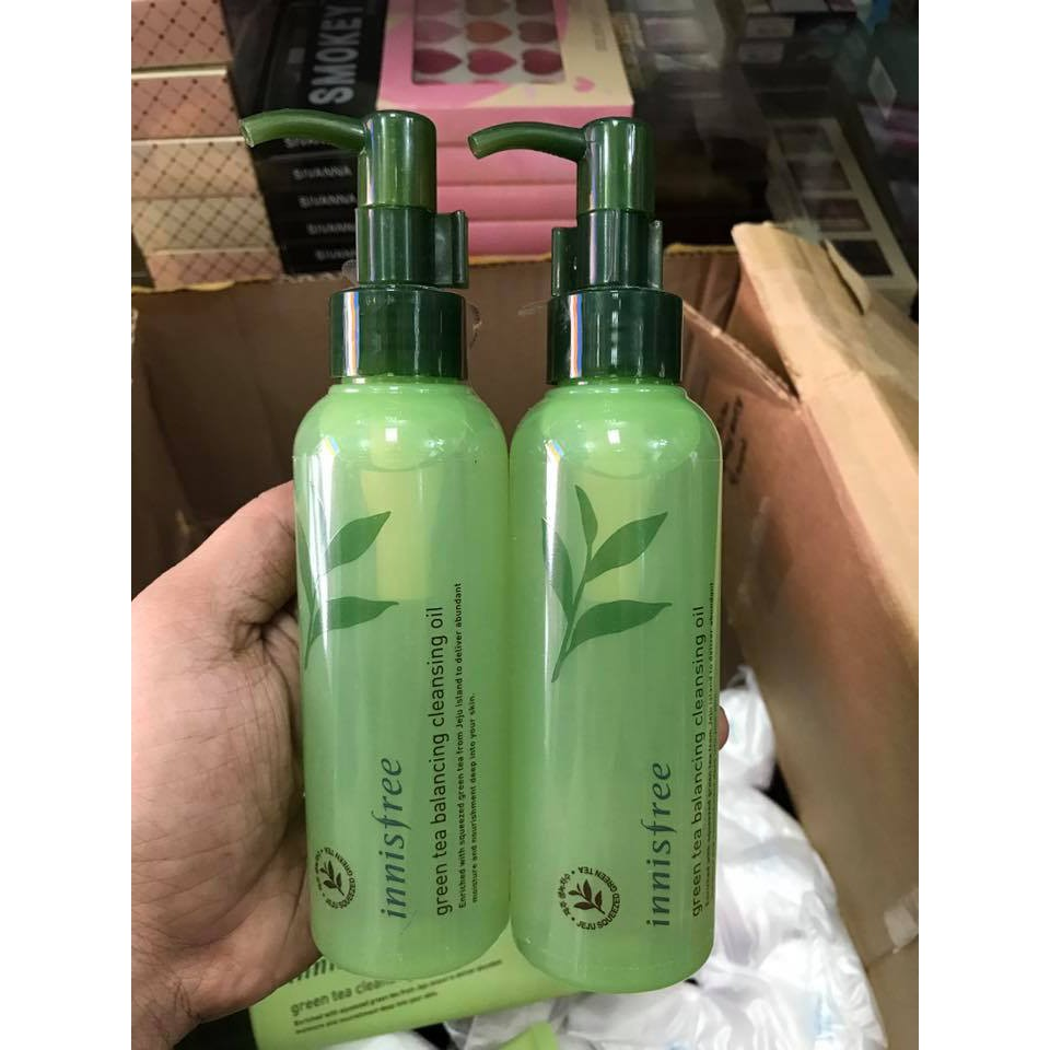 Dầu Tẩy Trang Innisfree Green Tea Fresh Cleansing Oil