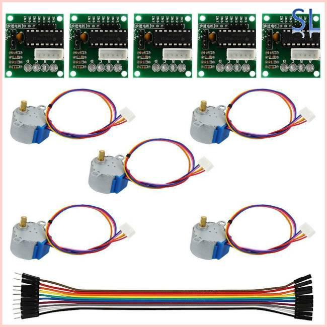 5Pcs 5V Stepper Motor with ULN2003 Speed Driver Controller