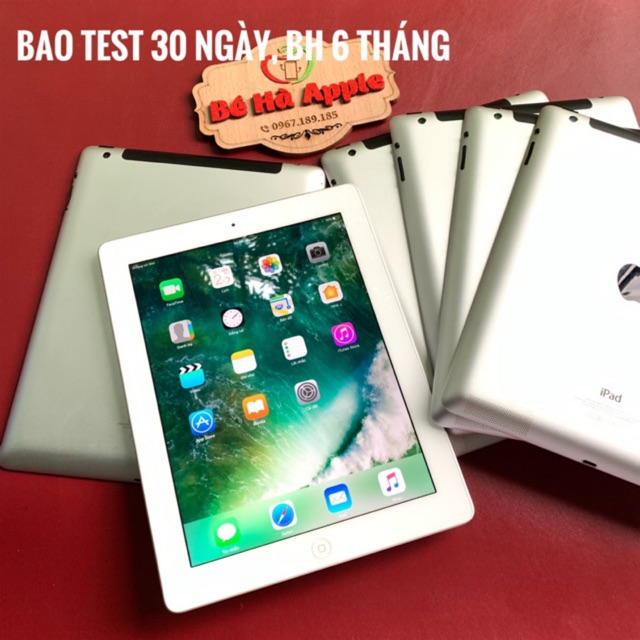 [Mã ELMT1M5 hoàn 6% đơn 1.5TR] IPad 4 (Wifi + 4G) 16Gb Zin Đẹp 99% Full Phụ Kiện Quốc tế chính hãng Apple