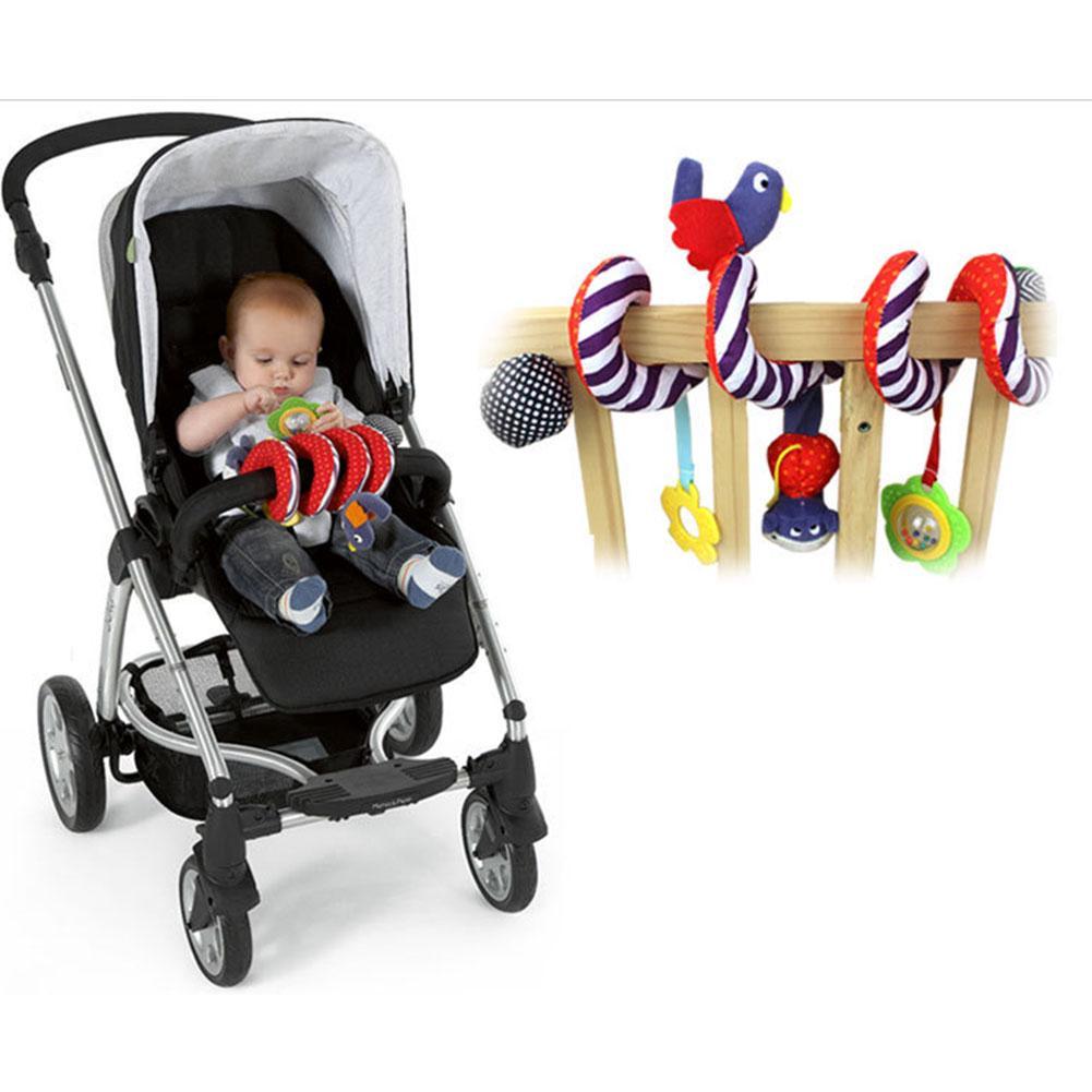 Super Soft Baby Prams Stroller Bed Spiral Activity Hanging Toys (3,Radom color)