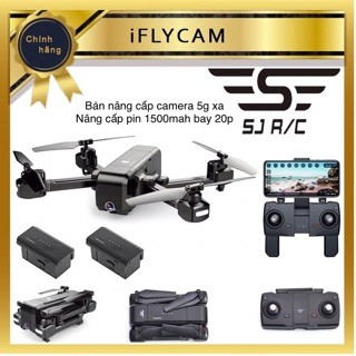 [GIÁ GỐC] Flycam sjrc Z5 bản 5g 1080p xoay 90 độ bay 20p xa 600m bản nân cấp