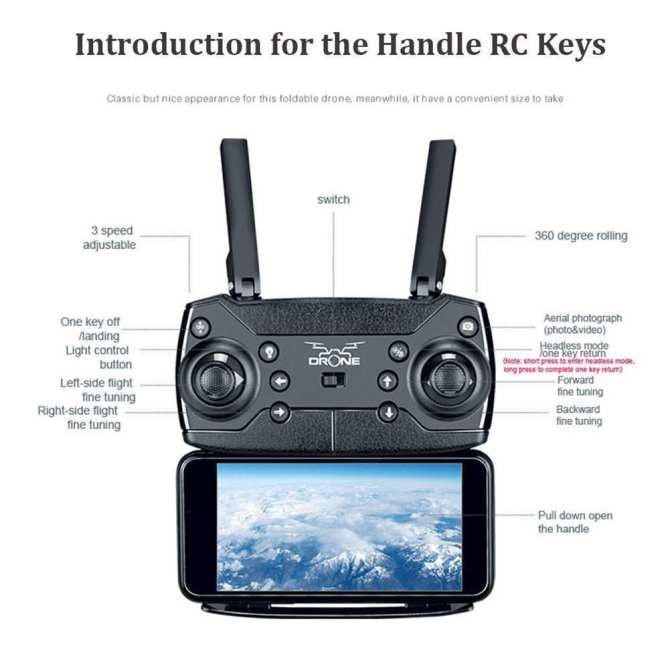 [FREESHIP] Flycam Ky601s Gấp Gọn Bay 18-20p Quay HD