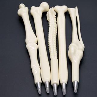 5Pcs Novelty Bone Shape Ballpoint Pens Stationery Gift