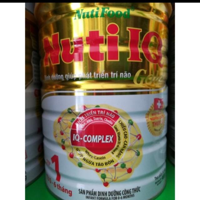 Sữa Nuti IQ gold 1 dành cho trẻ 0-6 tháng tuổi (900g)