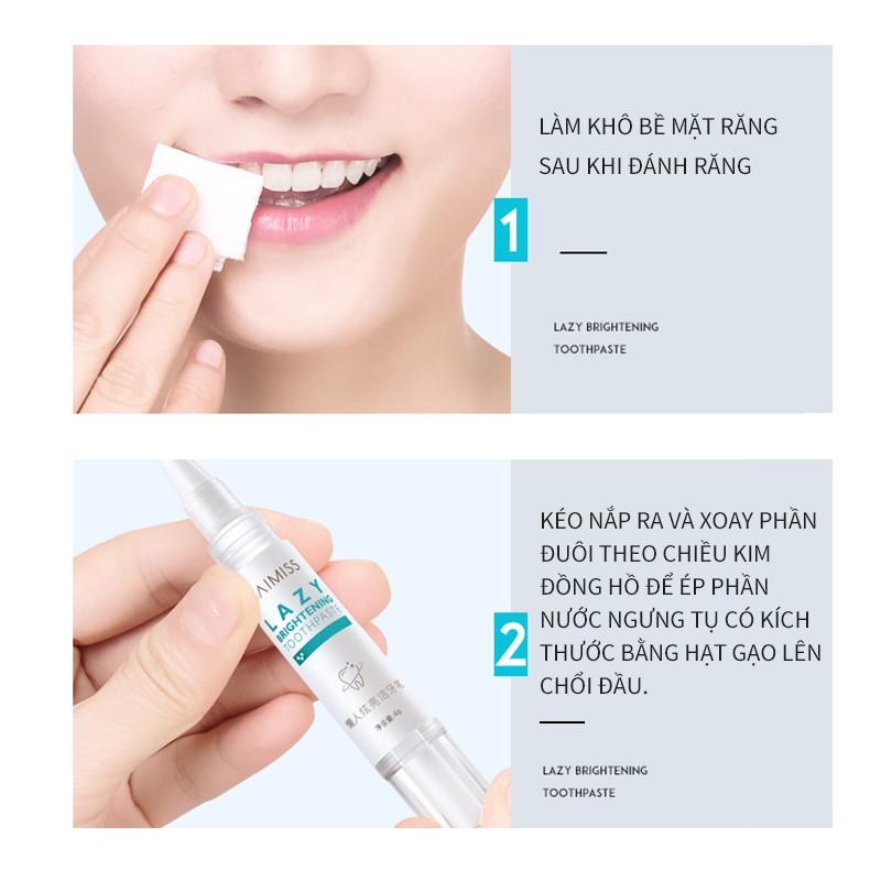 Bàn chải BAIMISS làm trắng sáng răng và loại bỏ mảng bám 5ml