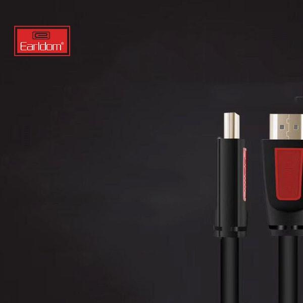 Cáp HDMI Earldom W09 Hỗ Trợ 3D, Tốc Độ Cao, Chuẩn Full HD 1080