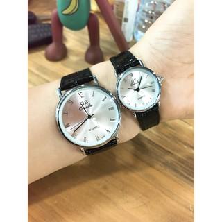 Cặp Đồng hồ đôi dây da Qianba cao cấp thời thượng QB40 thumbnail
