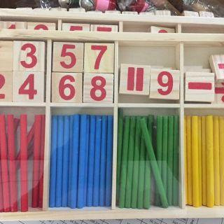 Bảng gỗ quê tính và chữ số cho bé